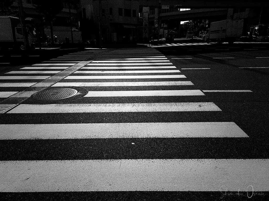 横断歩道 モノクローム